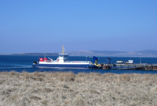 Newly lengthened Hoy Head's first scheduled trip to Flotta - 13 April 2013